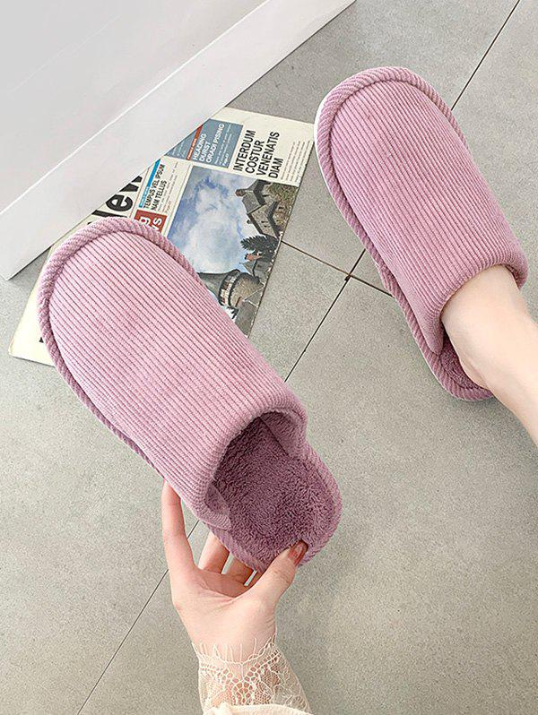 Solid Color Fuzzy Comfortable Slippers - PURPLE EU 40