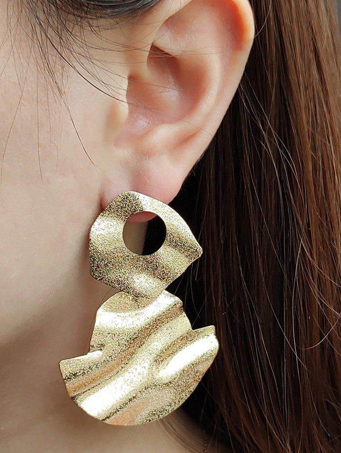 Hammered Disc Drop Earrings - GOLDEN