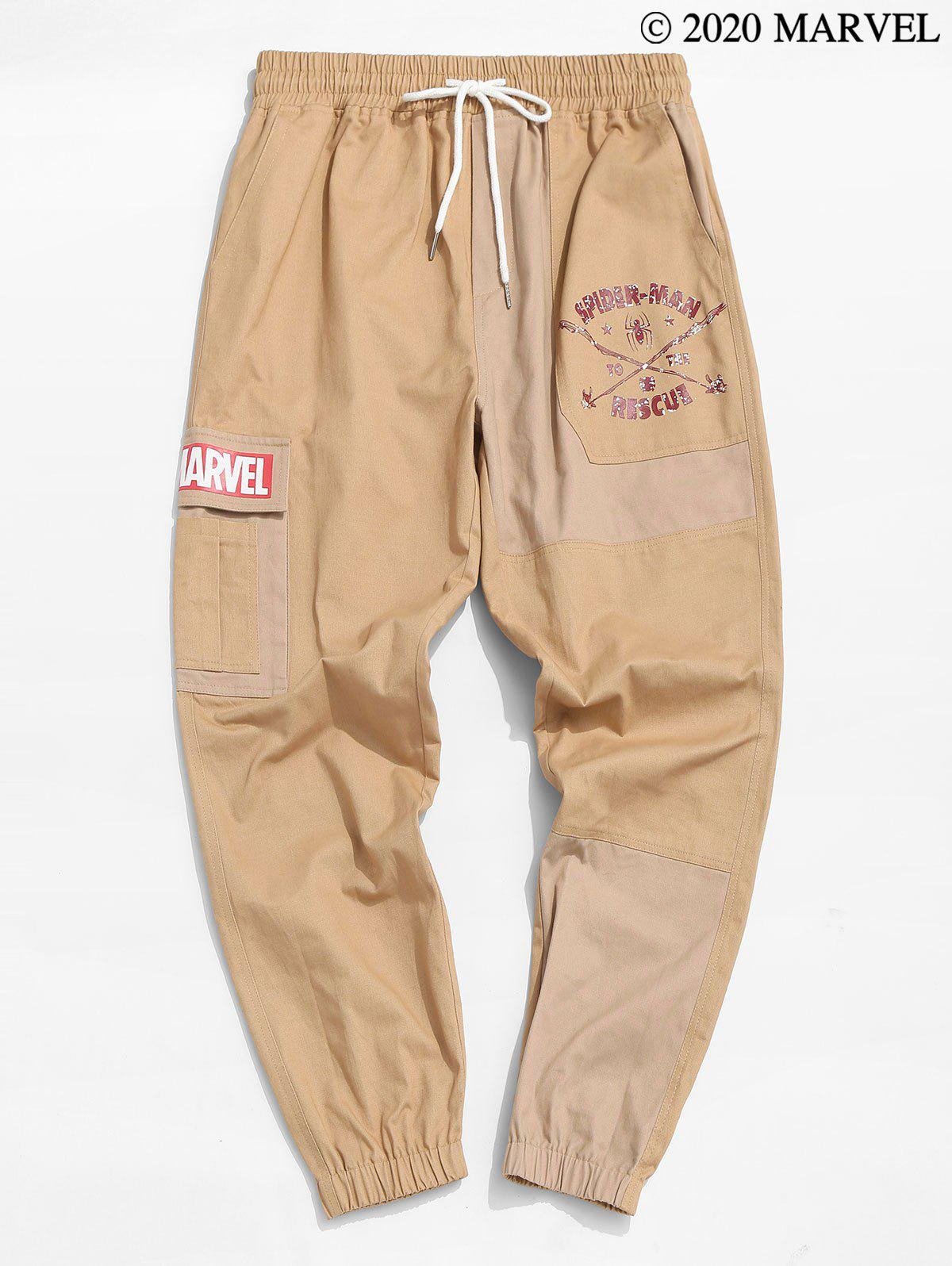 Marvel Spider-Man To The Rescue Pattern Cargo Pants - CAMEL BROWN M