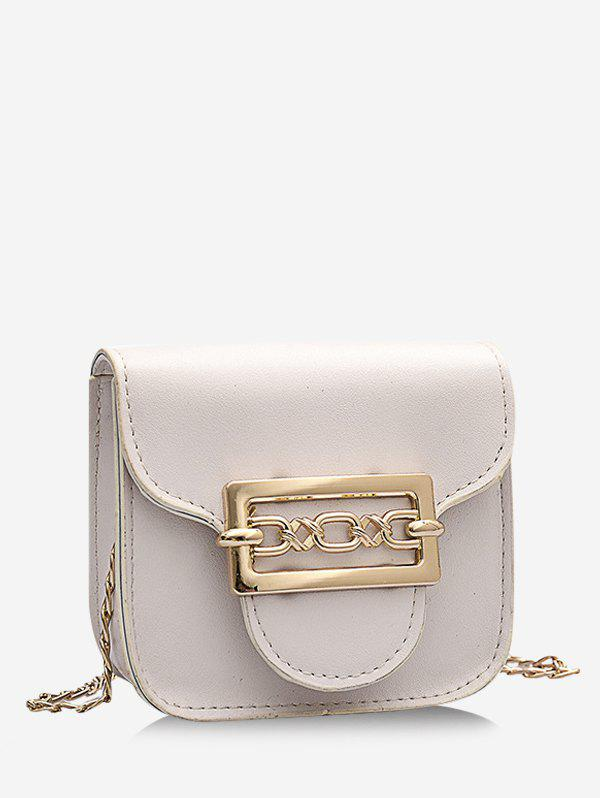 Cute Chain Mini Candy Crossbody Bag - MILK WHITE