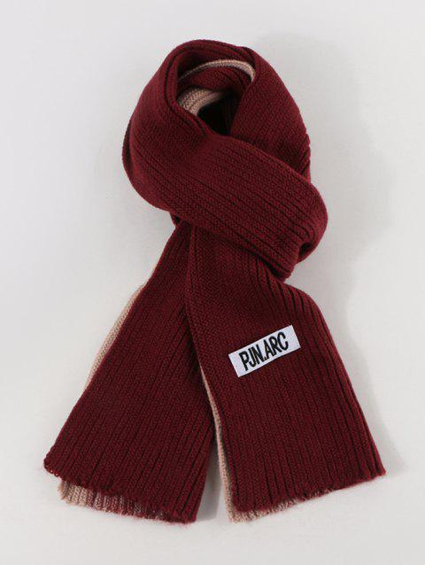 Colorblock Winter Long Knitted Scarf