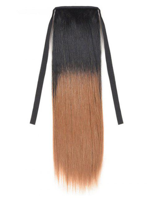 Synthetic Long Straight Ombre Hair Extension Ponytail