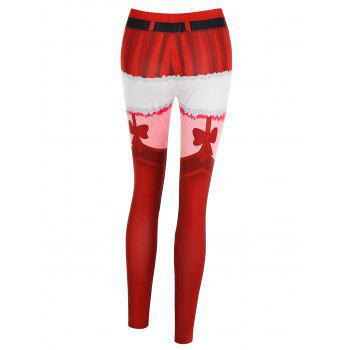 Christmas 3D Print Fitted Pants