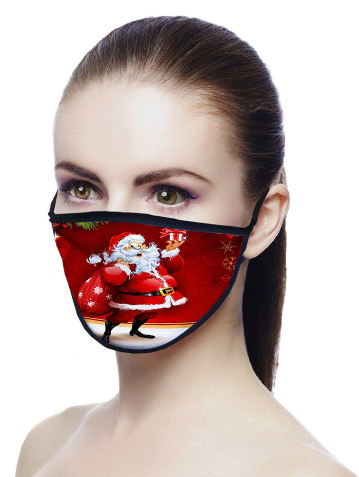 Christmas Santa Printed Air Layer Fabric Mask - LAVA RED 20*15CM