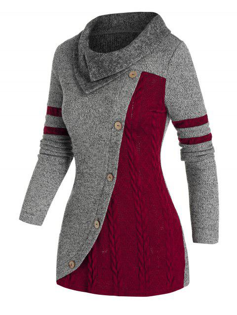 Two Tone Patchwork Knitwear