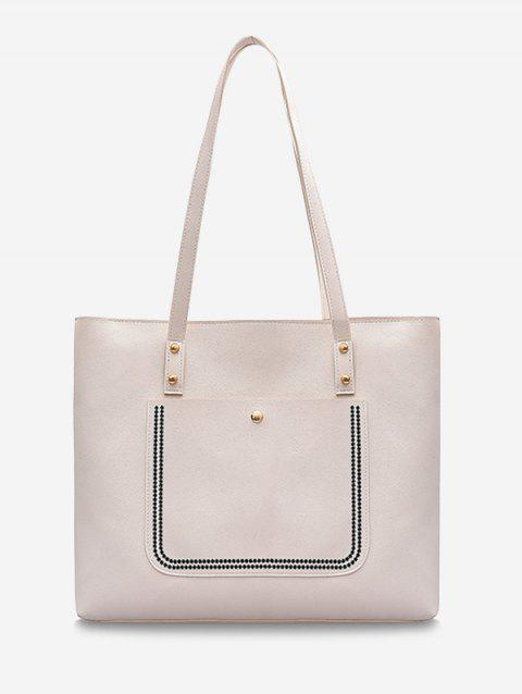 Large Capacity Pure Color Tote Bag