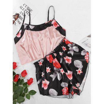 Plus Size Floral Cami Top and Shorts Pajama Set