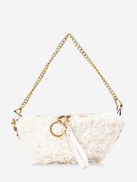 Faux Shearling Double Strap Fanny Pack