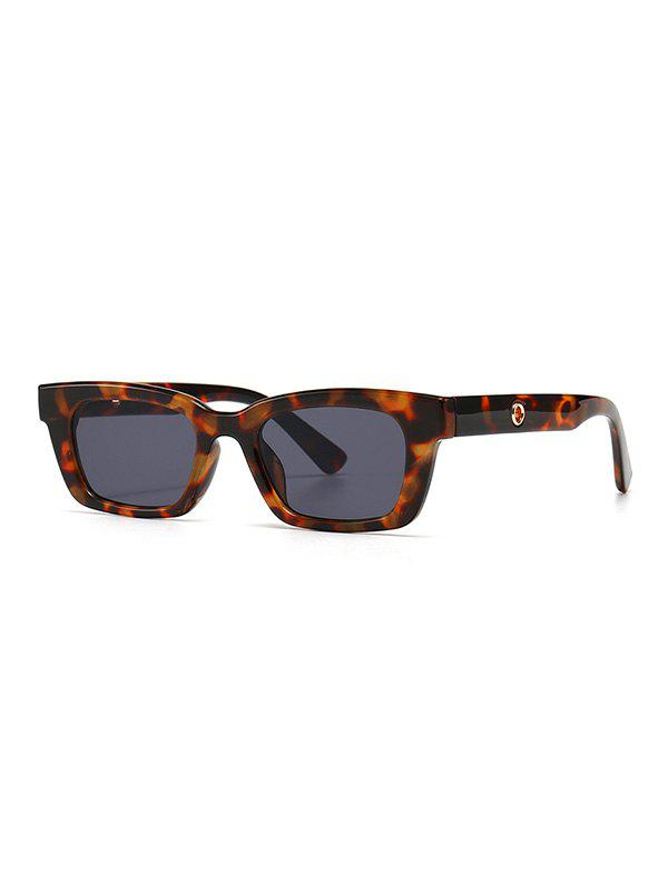 Retro Narrow Hollow Temple Sunglasses - LEOPARD