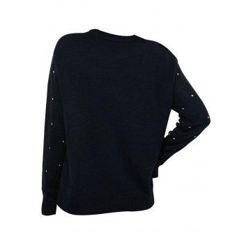 Christmas Berry Snowflake Graphic Sequined Sweater