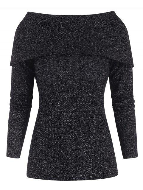 Sparkle Bowknot Back Ribbed Knitwear