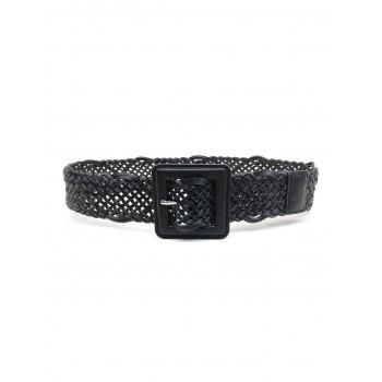 Dresslily coupon: Braided Hollow Out Square Pin Buckle Belt