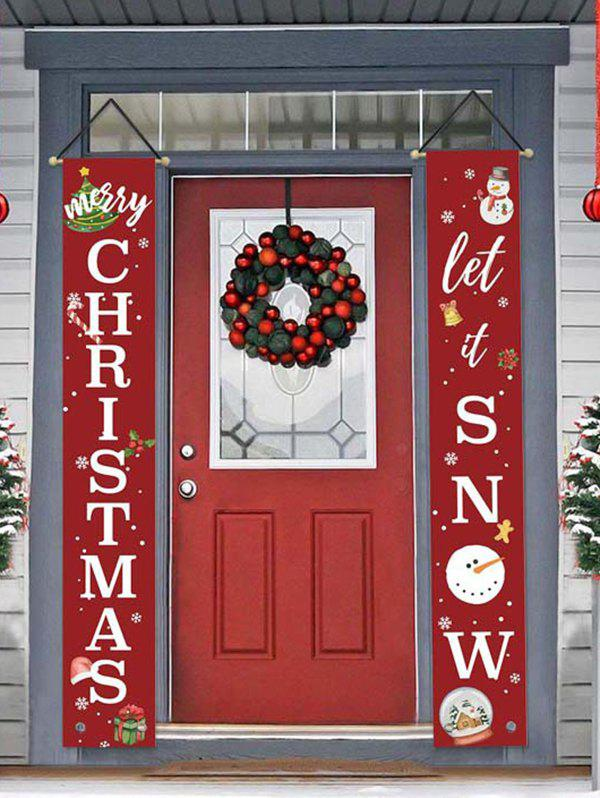 Christmas Couplet Decorative Door Hanging Banners - multicolor D