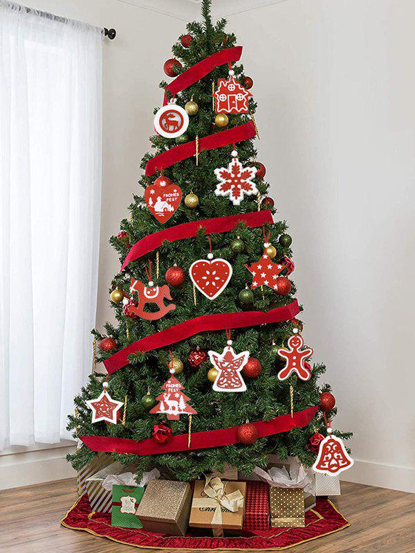 Snowflake Bell Star Pattern Christmas Tree Hanging Decorations Set - multicolor