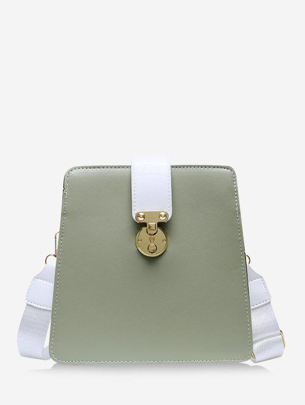 Colorblock Crossbody Square Bag - CAMOUFLAGE GREEN