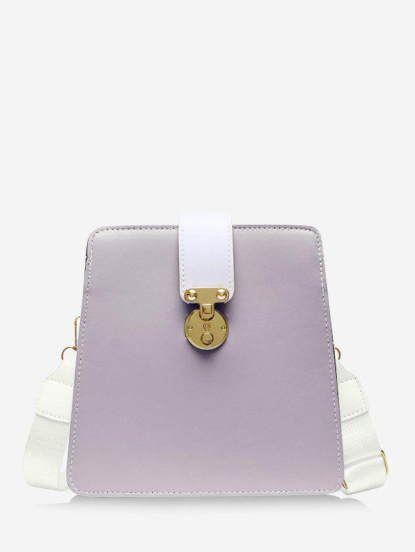 Colorblock Crossbody Square Bag - MAUVE