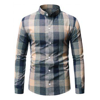 Long Sleeve Plaid Patterned Button Down Shirt