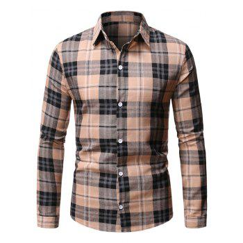 Button Up Plaid Pattern Casual Shirt