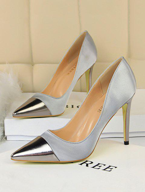 Pointed Toe Satin High Heel Shoes
