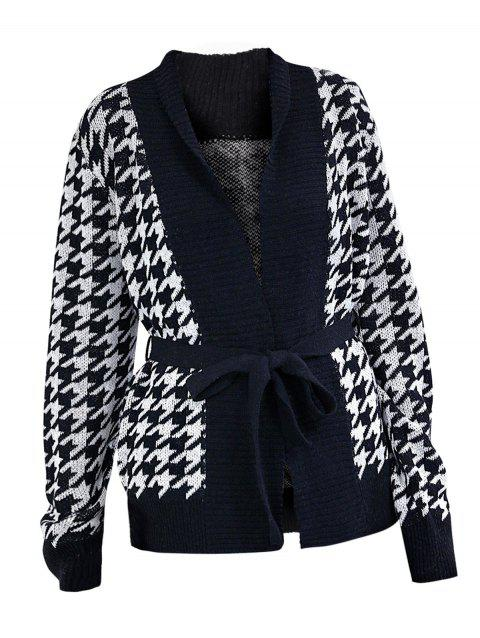 Houndstooth Wrap Cardigan