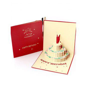 3D Hollow Out Cake Birthday Gift Card