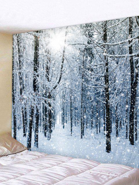 Snow Forest Printed Tapestry Wall Hanging Art Decoration