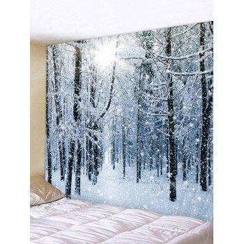 Christmas Snow Forest Print Tapestry Wall Hanging Art Decoration