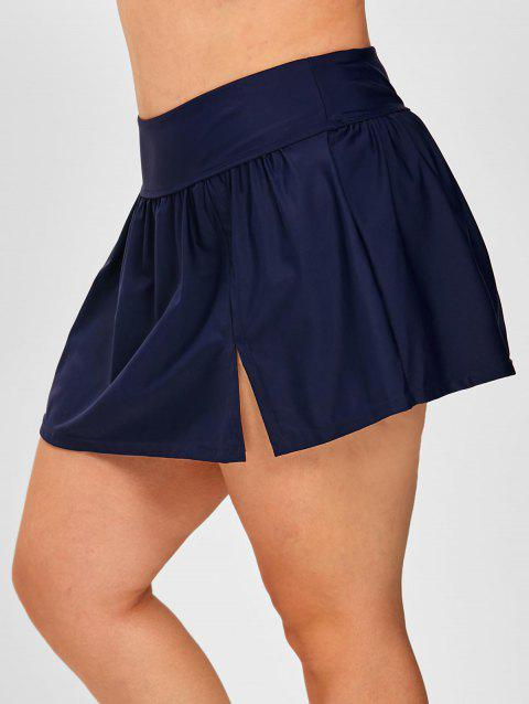 Plus Size Ruched Detail Skirted Swim Bottom