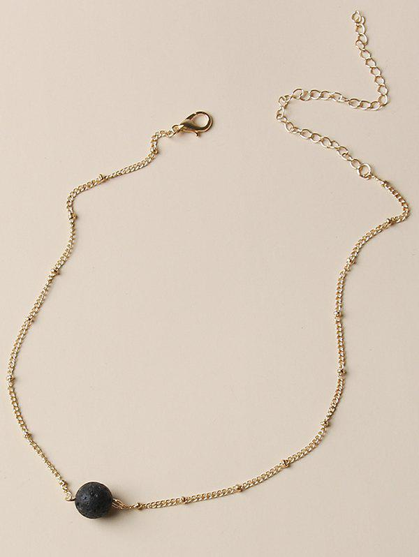 Brief Ball Clavicle Chain Necklace - GOLDEN