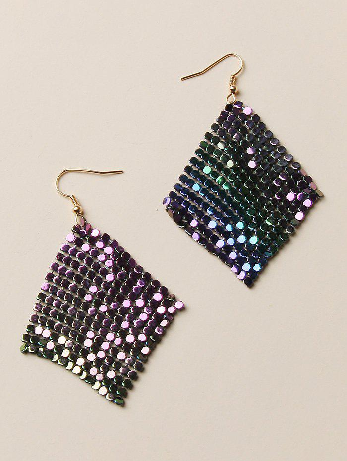 Gradient Sequined Dangle Earrings - multicolor A