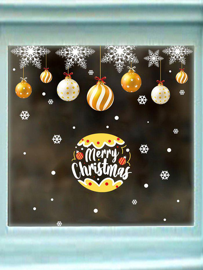 Christmas Ball Letters Print Wall Static Stickers Set - multicolor A 60*90