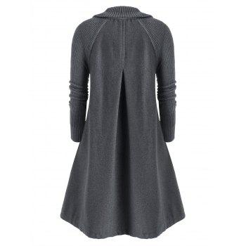 Plus Size Single Breasted Knitted Long Coat