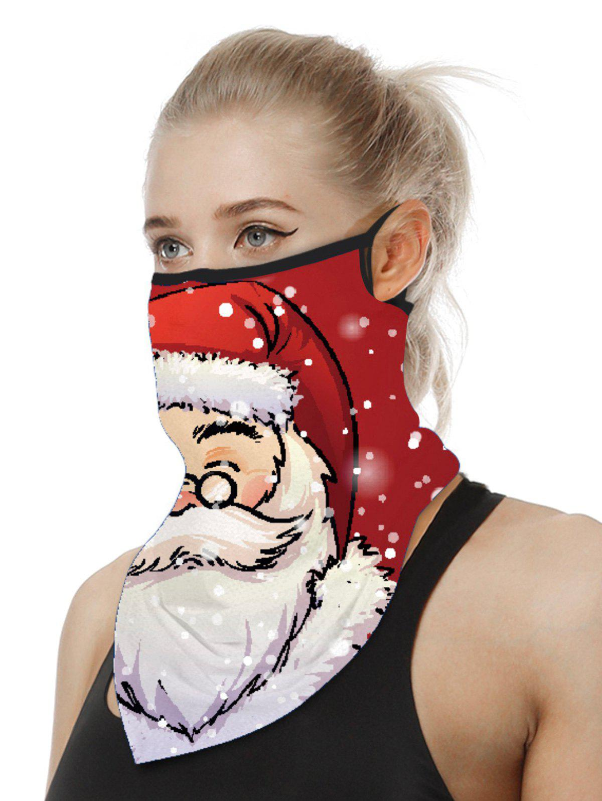 Christmas Patterned Riding Face Mask Scarf - multicolor D