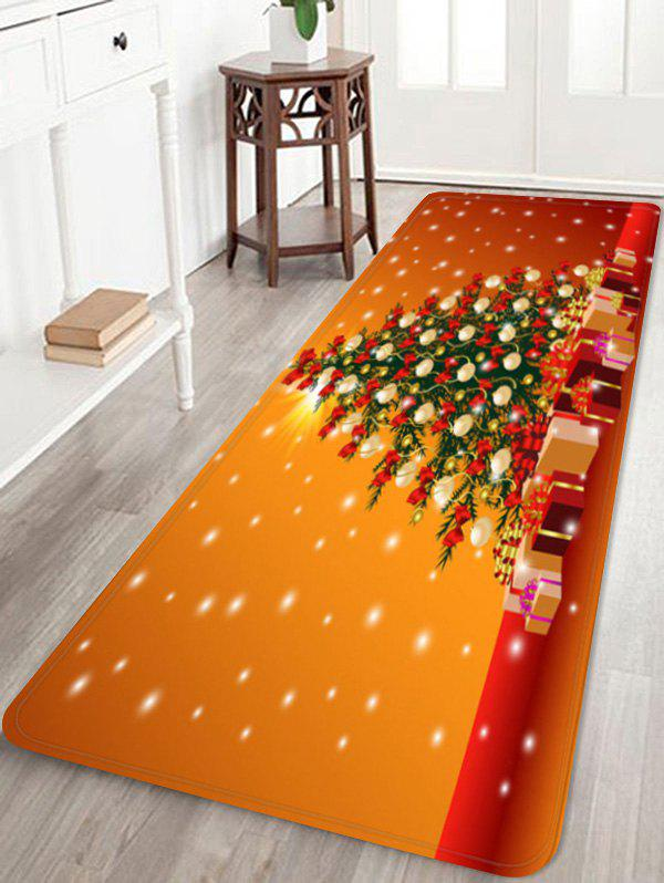 Printed Christmas Tree Home Decoration Floor Mat - multicolor W24 X L71 INCH