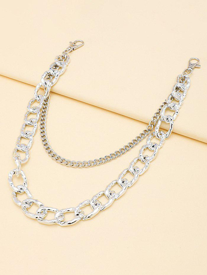 Double-deck Simple Trousers Chain - SILVER