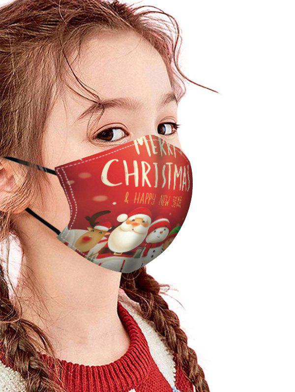 Christmas Patterned Breathing Mask - multicolor C 1PC
