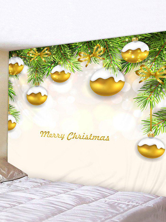 Christmas Tree Balls Print Tapestry Wall Hanging Art Decoration - multicolor W91 X L71 INCH