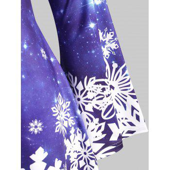 Galaxy Snowflake Lace Up Christmas Plus Size Top