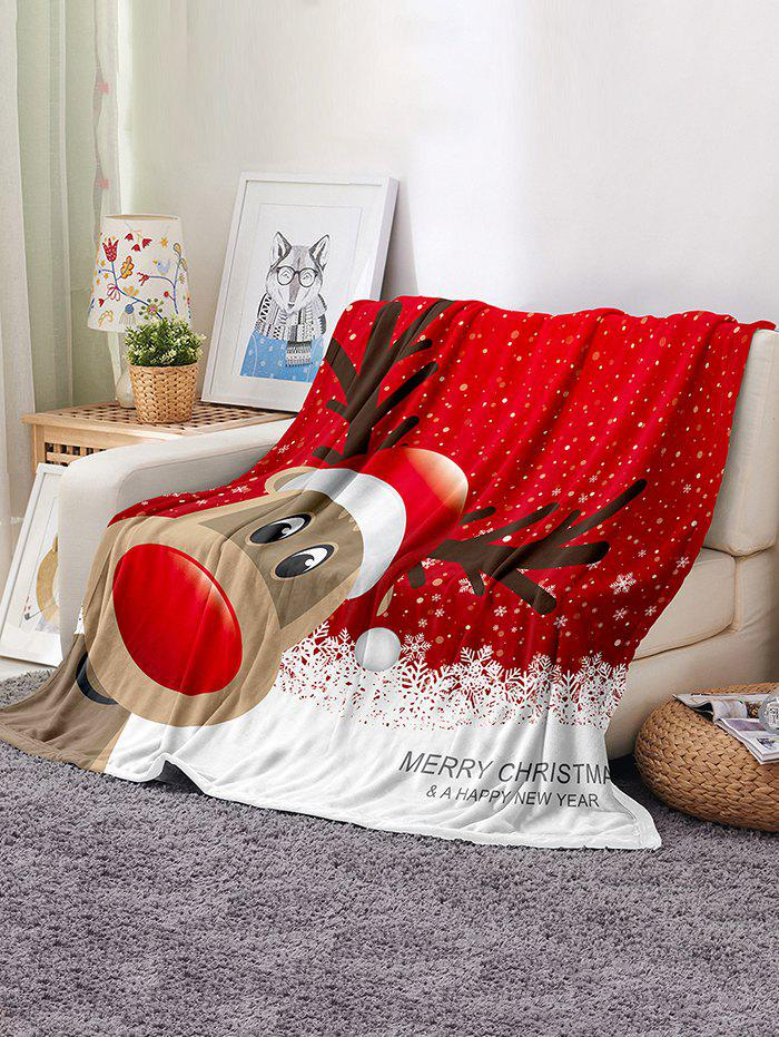 Digital Printing Christmas Elk Multifunction Blanket - multicolor W59 X L51 INCH
