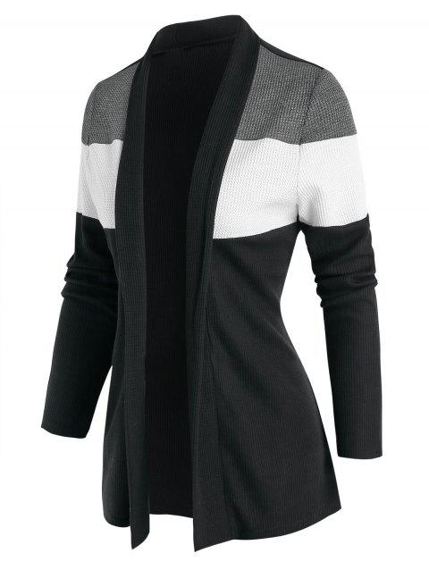 Contrast Open Front Cardigan