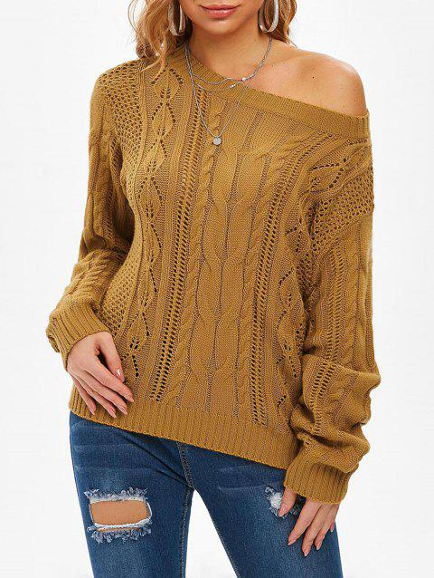 Cable Knit Openwork Jumper Sweater