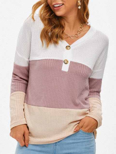 Colorblock Honeycomb Knitwear
