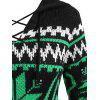 Christmas Snowflake Lace Up Hooded Slit High Low Sweater - multicolor M