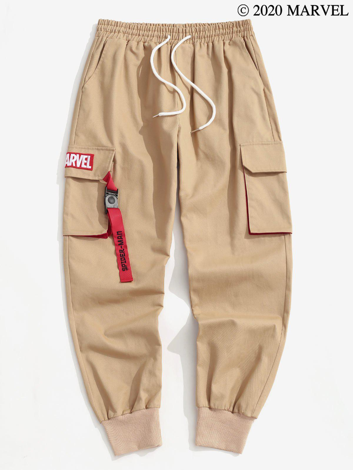 Marvel Spider-Man Badge Cargo Pants - DARK KHAKI 2XL