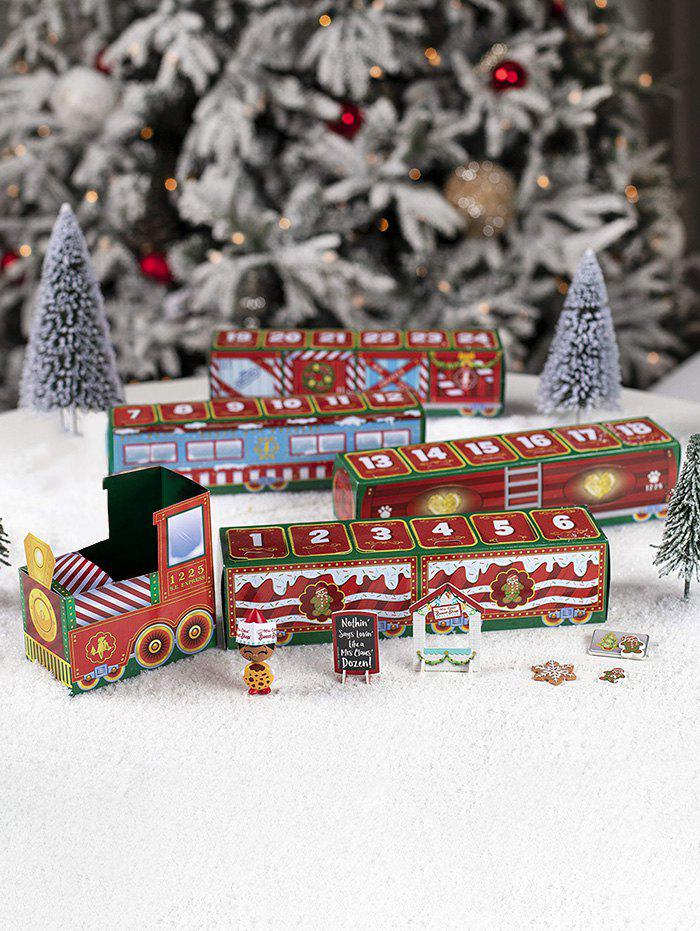 Christmas 24 Days Count Down Paper Train Toy - multicolor