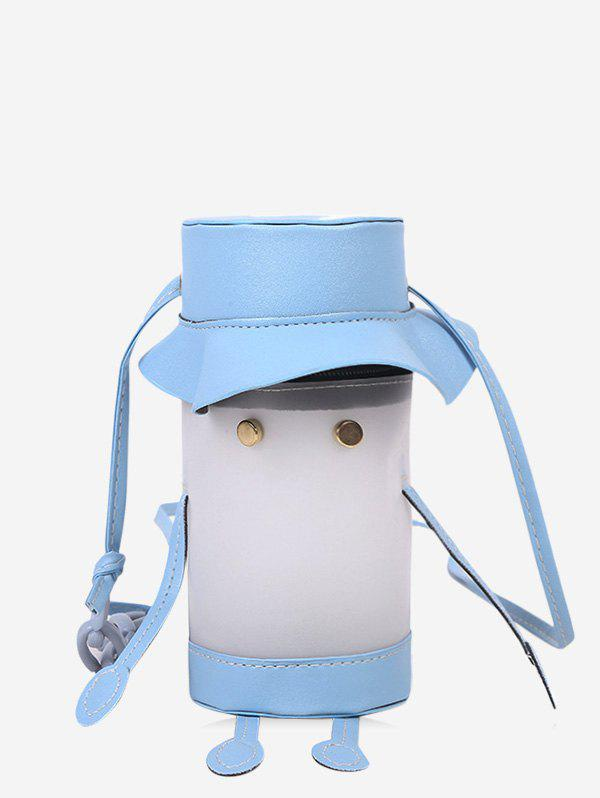 Cartoon Cylinder Crossbody Phone Bag - LIGHT SKY BLUE