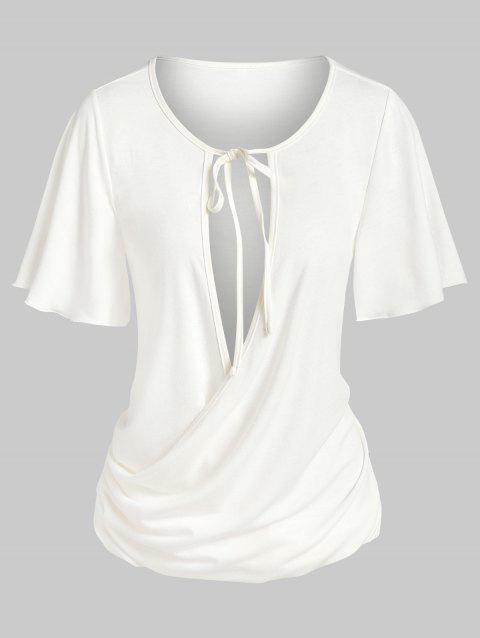 Tie Knot Ruched Surplice T-shirt