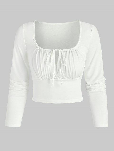 Tie Knot Keyhole Cropped T-shirt