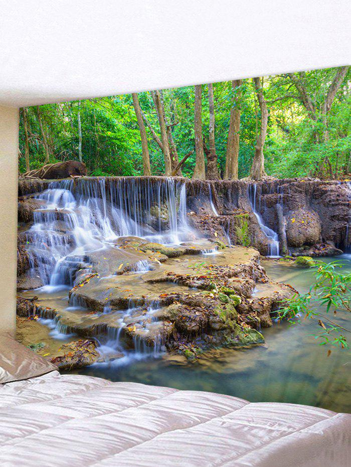 Forest Landscape 3D Print Wall Tapestry - multicolor W59 X L51 INCH