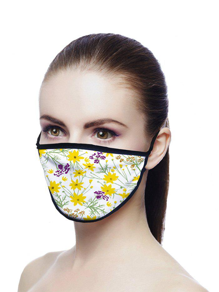 Tiny Flowers Pattern Breathable Face Mask - CORN YELLOW 20*15CM